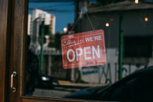 Open Sign On Storefront